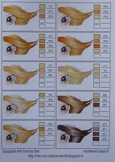 Copic combinations for HAIR COLOR - page 6 of 11