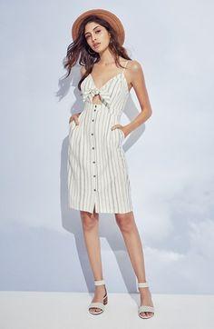 $72.00 Tie-Front Midi Dress, ASTR   Nordstrom