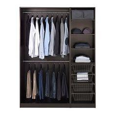 PAX Wardrobe - IKEA.  Loft for books, seasonal clothes, other storage.