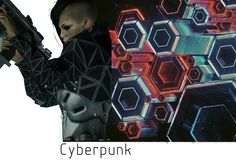 Girlfriend's Cyberpunk Mood boards for Fashion Project - Album on Imgur