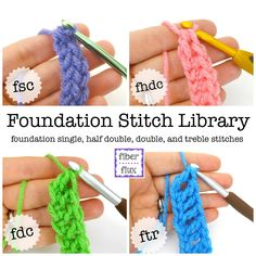 We've been learning all about foundation stitches for the past few weeks...here is the complete collection! Learning and practicing these stitches is so fantastic to know, it eliminates the need for