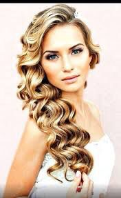 Wedding beautiful barrel curls