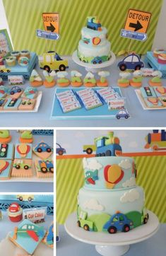 Cars and Trucks Party Inspiration Collection - Birthday Party Ideas for Kids and Adults Disney Cars Party, Disney Cars Birthday, Car Party, Car Themed Parties, Cars Birthday Parties, Transportation Birthday, 1st Birthday Cakes, Birthday Ideas, Monster Truck Birthday