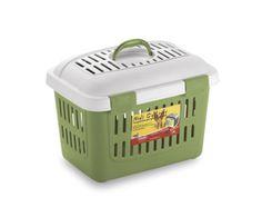 MIDI GULLIVER, il trasportino disponibile in azzurro o verde per il trasporto di piccoli animali (es. coniglietti, furetti, ...). con maniglia, chiusure di sicurezza e tracolla inclusa.
