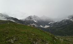 In direction of Gran Paradiso. Traces of fresh snow above 2600 m. It's summer!
