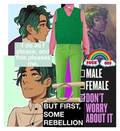 """""""alex fierro"""" by homopomogay ❤ liked on Polyvore featuring Gucci and Jacob Cohёn"""