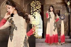 Exquisite Long Designer Anarkali Suit Indian by MaahRoseClothings