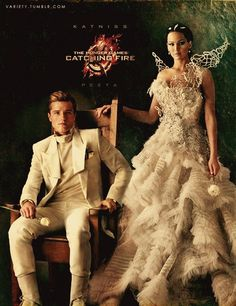 The 74th Hunger Games Victors! That dress is AMAZING!! I really need to reread the books before the sequel comes out