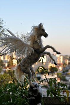 Christmas Tree Topper. Needle felted Pegasus.