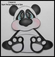 Panda Premade Paper Piecing for Scrapbook Pages by Babs
