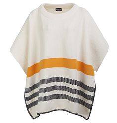 Soeach Womens Stripes Oversized Stripes Poncho Cape Cloak Pullover Sweater *** Visit the image link more details.