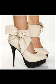 Bow heels. Must have one in every color