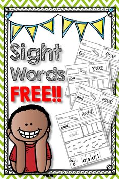 Sight word pages to color, cut, paste, write, and find for first and second grade! Homeschool Kindergarten, Kindergarten Reading, Teaching Reading, Fun Learning, Preschool Activities, Homeschooling, Guided Reading, Close Reading, Kindergarten Worksheets
