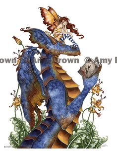 """Book Club"" PRINTS-OPEN EDITION - Dragons - Amy Brown Fairy Art - The Official Gallery"
