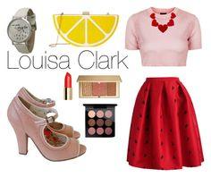 """Louisa Clark"" by dalmafarkas ❤ liked on Polyvore featuring Topshop, Estée Lauder, MAC Cosmetics, Jessica McClintock, Geneva and vintage"