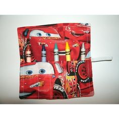 Crayon rollup party favor Cars Birthday Parties, 2nd Birthday, Crayon Roll, Disney Fabric, Party Favors, Favours, Party Needs, Lightning Mcqueen, Disney Cars