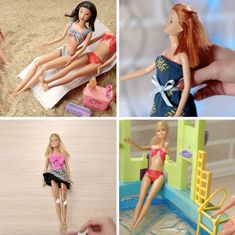 Amazing Barbie Doll Hacks And Crafts - Don't throw away your old barbie dolls they might be useful! Informations About Amazing Barbie Dol - Old Barbie Dolls, Barbie Doll House, Barbie Toys, Barbie Dream House, Barbie Stuff, Old Dolls, Sewing Barbie Clothes, Barbie Clothes Patterns, Vintage Barbie Clothes