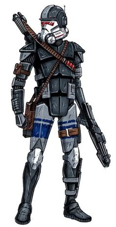 Their armor was modified from the Republic& clone trooper armor. They are tougher than the first version. Images Star Wars, Star Wars Pictures, Starwars, Star Wars Concept Art, Star Wars Fan Art, Star Wars Rpg, Star Wars Clone Wars, Star Wars Design, Clone Trooper