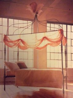 From an magazine clipping. Painted Iron Beds, Valance Curtains, Magazine, Home Decor, Decoration Home, Room Decor, Magazines, Home Interior Design, Valence Curtains