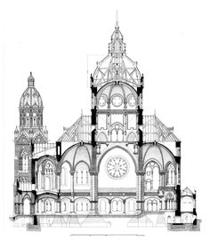 Section of the Church of Saint Lucas, Munich ARCHI/MAPS : Photo