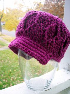 Super Textured Newsboy Hat by karenswimmer on Etsy, $28.00