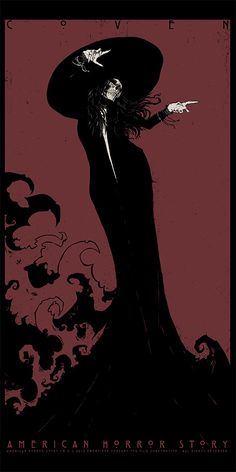 """- Inspired by American Horror Story - Screen Print - Limited Edition of 75 - Approximately 18"""" x 36"""""""