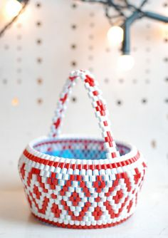 Little Winter basket from the Christmas collection by Hejsan Goods. hejsangoods.bigcartel.com.