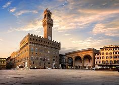 Buy Square of Signoria in Florence by Givaga on PhotoDune. Square of Signoria in Florence at sunrise, Italy Giorgio Vasari, Palazzo, Pisa, Palacio Pitti, Florence Cathedral, Under The Tuscan Sun, Colourful Buildings, Toscana, Florence Italy