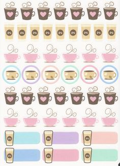 ~ Coffee Planner Stickers for Erin Condren Life Planner, stickers for Happy Planner, coffee date stickers, doodle coffee stickers A variety of hand drawn coffee stickers. Planner 2018, To Do Planner, Free Planner, Erin Condren Life Planner, Planner Pages, Happy Planner, Journal Stickers, Printable Planner Stickers, Stickers Kawaii
