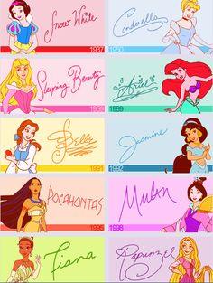 princesses autographs :)
