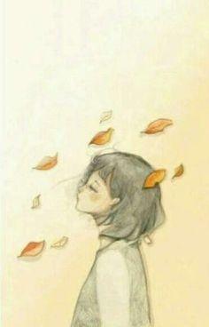 So sad. not me painting Sad Girl Art, Girl Watercolor, Art Anime, Cute Illustration, Cute Drawings, Art Sketches, Cute Art, Art Inspo, Drawing People