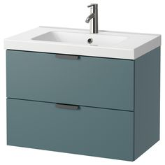 IKEA ODENSVIK/GODMORGON Wash-stand with 2 drawers Grey-turquoise 80x49x64 cm 10 year guarantee. Read about the terms in the guarantee brochure.