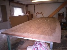 Large Walnut Conference table in the workshop