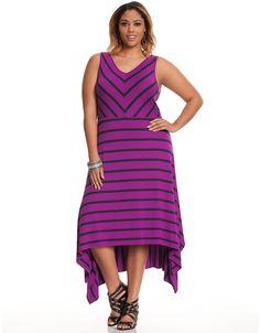 Striped A-line  knit dress by Lane Bryant   Lane Bryant