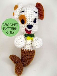 PATTERN ONLY  Bubble Puppy inspired crocheted plush by gensquared, $5.00
