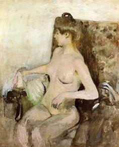 Edouard Vuillard- Seated Nude, 1903  Art Experience NYC  www.artexperiencenyc.com