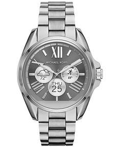 Michael Kors Access Women's Digital Bradshaw Stainless Steel Bracelet Smart Watch 45mm MKT5012   macys.com