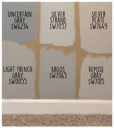 Sherwin Williams Paint Colors- Repose Gray and Light French Gray are gorgeous on the walls! Interior Paint Colors For Living Room, Living Colors, Kitchen Paint Colors, Bedroom Paint Colors, Paint Colors For Home, Wall Colors, House Colors, Gray Paint Colors, Grey Kitchen Walls
