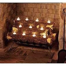 Image result for fireplace candle light holder