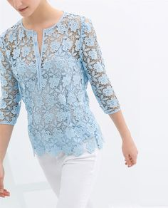 ZARA - NEW THIS WEEK - GUIPURE LACE TOP