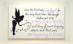 Tinkerbell - Disney World Art - Canvas Painting - Fairies Quote - Peter Pan - Neverland on Etsy, $45.00
