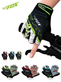 [Visit to Buy]  BATFOX sports mtb bike half finger cycling gloves bicycle gloves summer bycicle glove accessories for men women #Advertisement