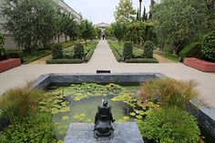 View of the Herb Garden at the Getty Villa.