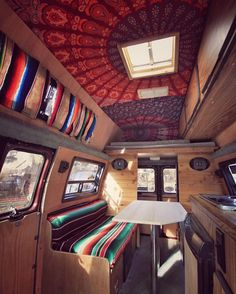 I love the idea of this for a caravan ceiling.