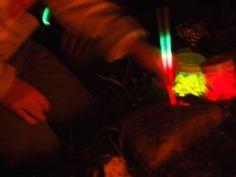 writing with glow sticks #abcdoes #markmaking #glowsticks #eyfs