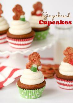 Gingerbread Cupcakes - confessionsofacookbookqueen.com