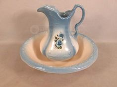 Vintage Ironstone Pitcher and Basin Bowl