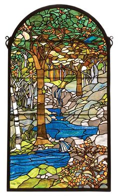 Tiffany Waterbrooks Stained Glass Window