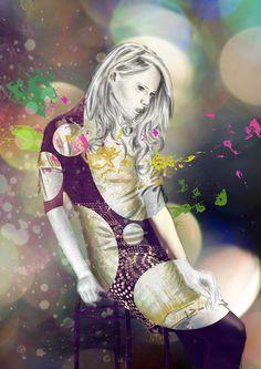 #fashion #digital #design #illustration #art #skech #picture #photomontage #model #woman #body