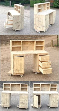 Creative Creations with Reclaimed Wooden Pallets - Makeup Vanity Ideas - Pallet Projects Pallet Art, Diy Pallet Projects, Wood Projects, Pallet Ideas, Pallet Wood, Pallet Patio, Outdoor Pallet, Wood Ideas, Pallet Vanity